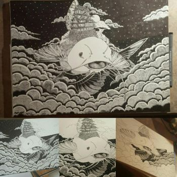 Tsunami fish step by step by MatthewCWin