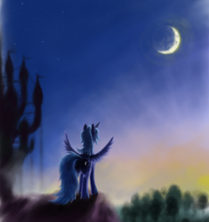 Young moon by grayma1k