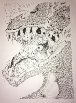 Dragon food, in progress by mikeyquig