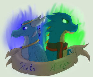 Blue dragons - badge thing whatever by Halo--Cat