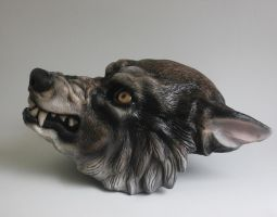 Finished Werewolf Mask by FeralWorks
