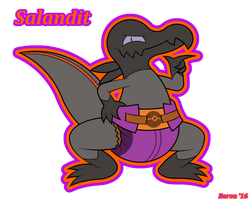 Toxic Pyro Lizard by Pawprint-Padding