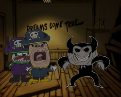 Mokey And Odwal In Bendy And The Ink Machine by HATNTPAINTER123