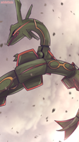 Day 603 A - Rayquaza by AutobotTesla