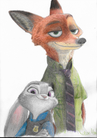 Zootopia- Nick and Judy by swiftadmiral117