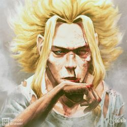 Toshinori Yagi a.k.a. All Might by JaimeQuianoJr