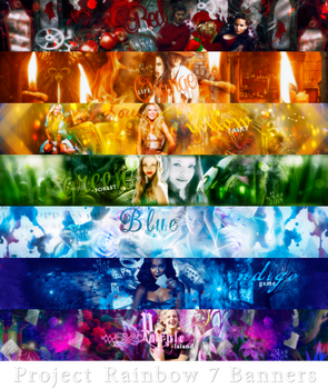 Project Rainbow 7 Banners by Uliana-wave