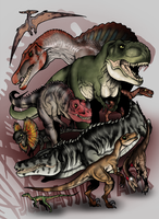 Jurassic Park Bestiary - The Predators by The-Alienmorph