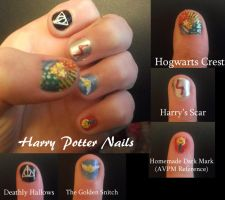 Harry Potter Nails by bananachip33