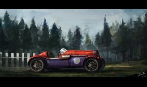 Another car painting by DeaDerV23