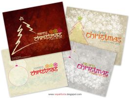 Christmas cards 2012 wallpapers pack2 by lalitkala
