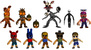 Five Nights at Freddybab's 4 (Wave 2) by BlackFoxPixels
