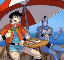 Beet the Vandel Buster - Lunch at the Pier by JenL