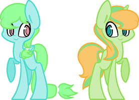 Breedable of Mint heart and Mint Lemon by CheshireGrinAdopts