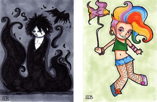 Sandman and Delirium by birdiebo