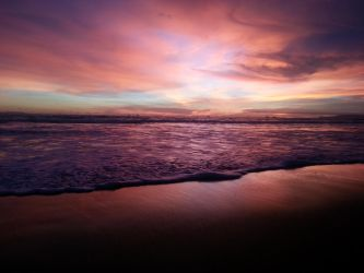 Coloring Sunset Pelabuhan Ratu West Java Indonesia by weknow