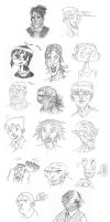 Sketches 2 by The-Mirrorball-Man