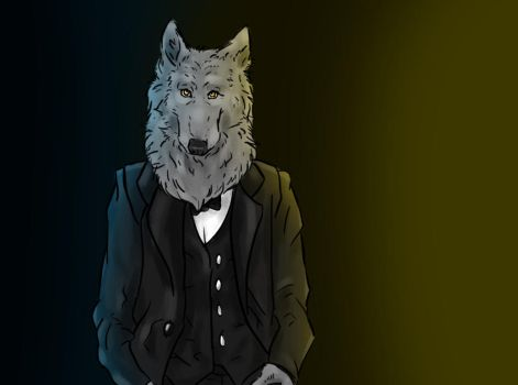 An alpha in suit by VadhenziArt
