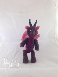 Needle Felt Red Dragon Lil' Buddy by RRedolfi
