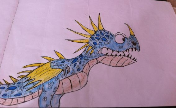 Cartoon deadly nadder by Viperwings
