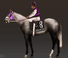 Jockey and Horse Design| CLOSED by FeatherCandy