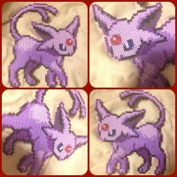 ( Eeveelutions ) Espeon Pokemon Perler by KrazyKari