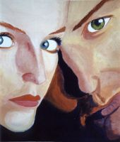 Mulder and Scully by SexyHarrySpecs