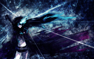 Black Rock Shooter Wallpaper by umi-no-mizu