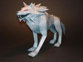 White Wolfos Papercraft by Skele-kitty