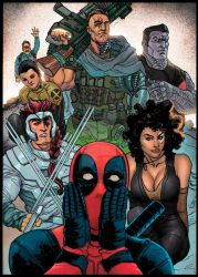 DEADPOOL AND X FORCE by jdavidlee1979