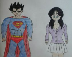 Gohan as Superman and Videl as Lois Lane by JQroxks21