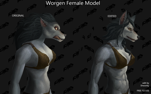 Female Worgen Model Edit