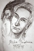 Misha Smietana - 3B pencil sketch by ShadeOvWarlock