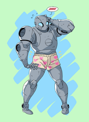 Atomic Robo in boxers by Avadras