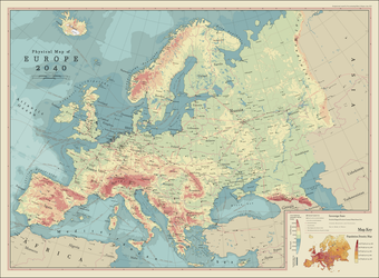 Physical Map of Europe 2040 by procrastinating2much