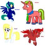 Themed adoptables 5-8 (CLOSED) by BronyBase