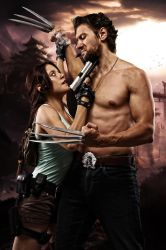Wolverine and Lara 004 by Howlettjames1981