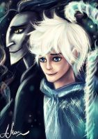 Jack Frost and  Pitch by manulys