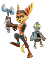 Ratchet and Clank - Transparent Background! by Camo-Flauge