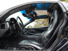 2004 Chevy Corvette interior with clear targa top by Partywave