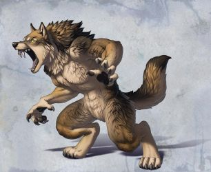 Werewolf for Khimeros by hibbary