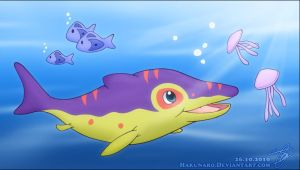 Mo, the Ophthalmosaurus by Hakunaro