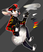 (CLOSED) Flaming Fennec [Auction] by GreaserDemonAdopts