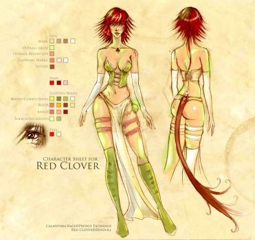 Character Sheet: Red Clover by erisdoll