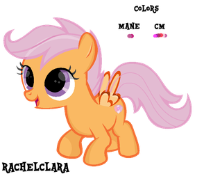 CMC Base #2 ' cute little pegasus filly ' by RachelClara