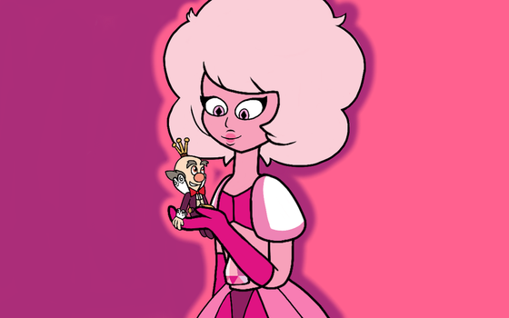 King Candy and Pink Diamond by AlanaDaCat13