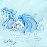 Ice Foxes by Ankoku-Flare