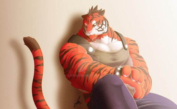 Red Tiger by ahyou1991