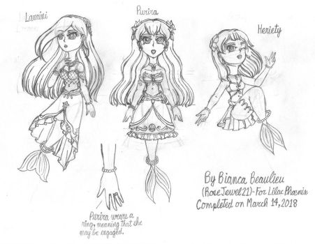 Gift-The Coreliic princesses Sketch by RoseJewel21