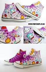 Milk, Mushrooms and Cats Converse by ponychops